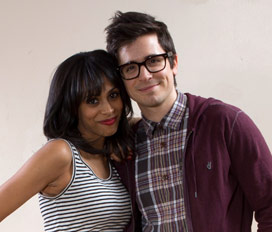 Nicolette Robinson and Matt Doyle.